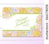 vintage delicate invitation... | Shutterstock . vector #366178058