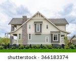 a perfect neighborhood. houses... | Shutterstock . vector #366183374