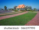 garden decorations in the park. | Shutterstock . vector #366197990