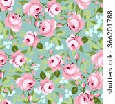 seamless floral pattern with... | Shutterstock .eps vector #366201788