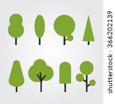 trees vector | Shutterstock .eps vector #366202139