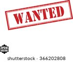 wanted grunge rubber stamp ...