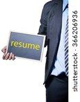 businessman holding a blank... | Shutterstock . vector #366206936