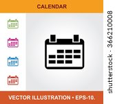 vector icon of calendar with... | Shutterstock .eps vector #366210008
