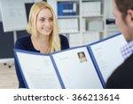 attractive young businesswoman... | Shutterstock . vector #366213614