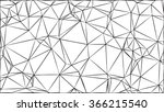 wireframe polygonal background.  | Shutterstock .eps vector #366215540