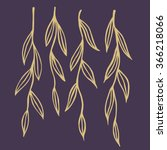 hand drawn willow twigs. doodle ...   Shutterstock .eps vector #366218066