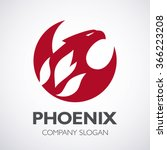 phoenix and fire logo  eagle... | Shutterstock .eps vector #366223208