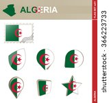 algeria flag set  flag set 51.... | Shutterstock . vector #366223733