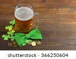 Green Shamrocks Clovers On...