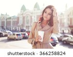 beautiful young woman in a... | Shutterstock . vector #366258824