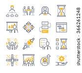 business management icon set.... | Shutterstock .eps vector #366261248