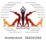 yoga infographics  mental and... | Shutterstock .eps vector #366261566