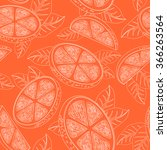 seamless pattern with orange... | Shutterstock . vector #366263564