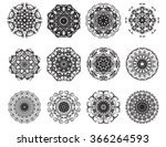 set of abstract design element... | Shutterstock .eps vector #366264593