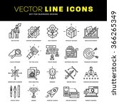 thin line icons set. business... | Shutterstock .eps vector #366265349