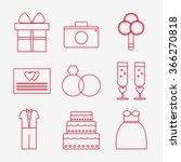 wedding icons set. wedding...   Shutterstock .eps vector #366270818