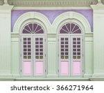 Colonial Old Building Facade...