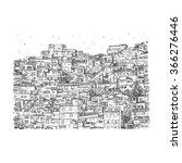 favela  brazilian slum in rio...   Shutterstock .eps vector #366276446