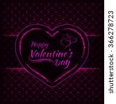 happy valentines day pink... | Shutterstock . vector #366278723