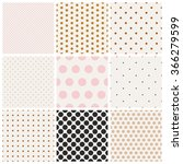 set of seamless dots patterns | Shutterstock .eps vector #366279599