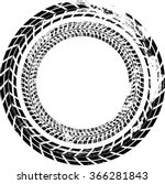 tire track vector round border... | Shutterstock .eps vector #366281843