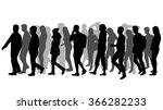 group of people. crowd of... | Shutterstock .eps vector #366282233