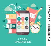 template learn linguistics... | Shutterstock .eps vector #366296834