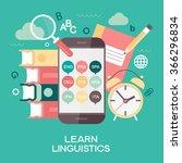 template learn linguistics... | Shutterstock .eps vector #366296834