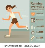 woman run  info graphic elements | Shutterstock .eps vector #366301634
