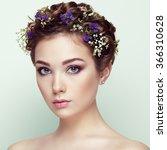 face of beautiful woman... | Shutterstock . vector #366310628