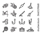 fishing icons set. vector eps... | Shutterstock .eps vector #366319868