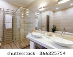 bathroom of the hotel rooms ... | Shutterstock . vector #366325754