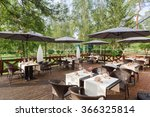terrace restaurant in the park  ... | Shutterstock . vector #366325814