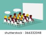 audience. vector illustration   Shutterstock .eps vector #366332048