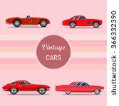 retro cars vintage cars vectors | Shutterstock .eps vector #366332390