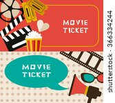 movie tickets | Shutterstock .eps vector #366334244