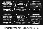 typography work for cafe | Shutterstock . vector #366343913