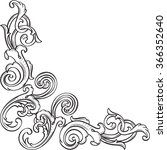 ornate victorian art corner is...   Shutterstock .eps vector #366352640