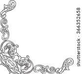 ornate vintage fine real corner ... | Shutterstock .eps vector #366352658