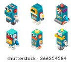 isometric robots toy  vector... | Shutterstock .eps vector #366354584