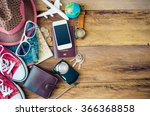 travel accessories costumes ... | Shutterstock . vector #366368858