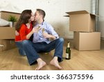 young happy american couple... | Shutterstock . vector #366375596