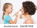 mom and daughter are having fun. | Shutterstock . vector #366387008