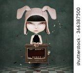 conceptual illustration or ... | Shutterstock . vector #366387500