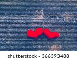 Two Red Heart  Valentines Day...