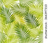 Palm Leaf Silhouettes Seamless...