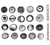 20 black and grey watercolor... | Shutterstock . vector #366415673