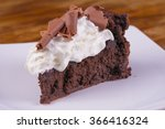 Slice Of Gourmet Chocolate Cak...