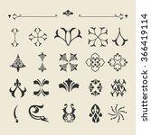 set of vector decorative... | Shutterstock .eps vector #366419114